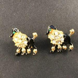 Vintage poodle scatter pins